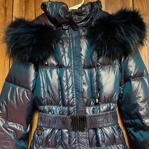 Real Fox fur down coat